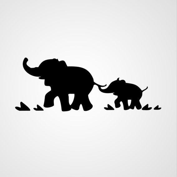 Olifantjes - Dewiha Art - Muursjablonen en Muurstickers