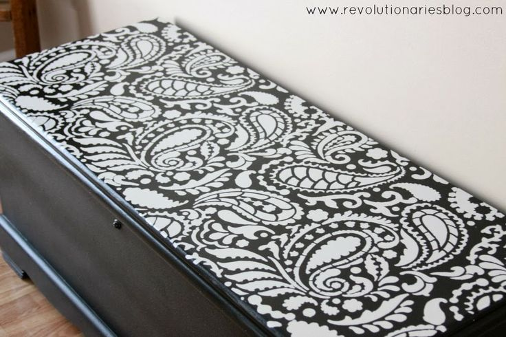 Before and After: Paisley Painted Cedar Chest