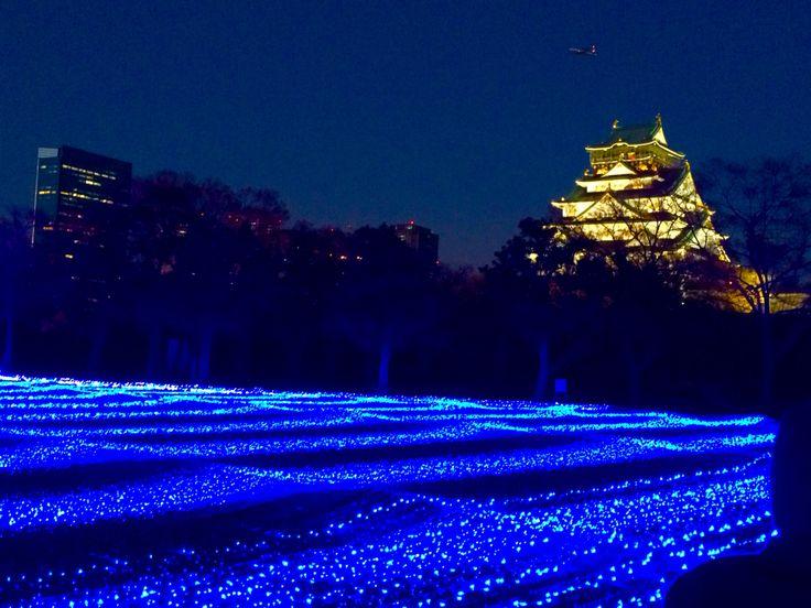 Beautiful blue light and beautiful Japan.