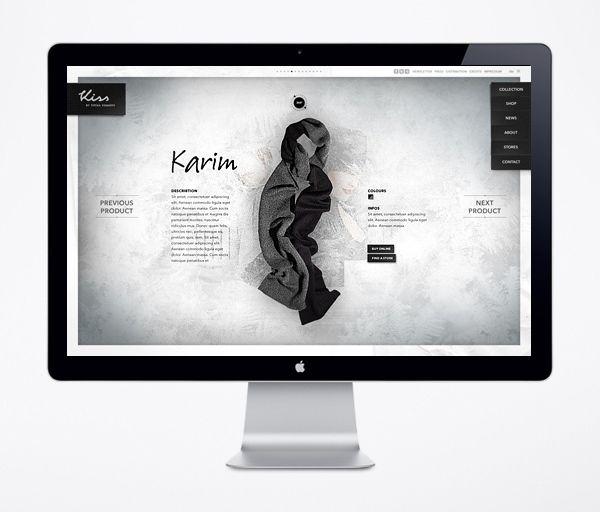 Website / Kiss by Fiona Bennett by Rene Bieder, via Behance