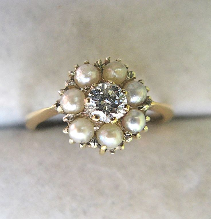 Victorian Diamond Pearl Ring--- sigh.