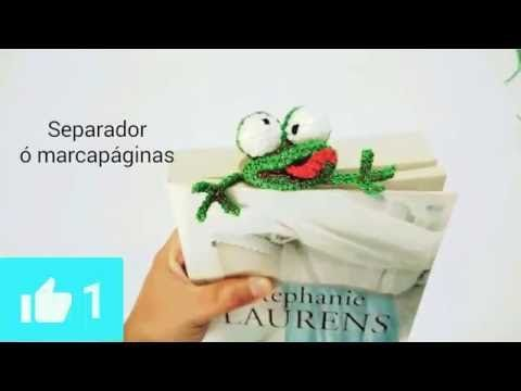 Rana Segnalibro Uncinetto Tutorial -Amigurumi - Crochet Frog Bookmark - Rana Marcador - YouTube