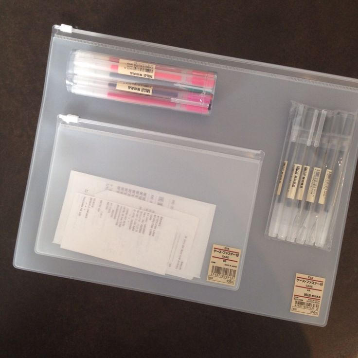 MUJI gel pens and plastic pockets - perfect for handlettering and keeping track of notes and stickers. Bullet Journal Travel Journal - Lisbon Trip - ForeverGoodLife