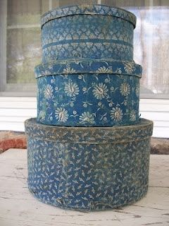 fabric covered boxes: From Thee to Me - the link does not lead to this photo; keeping photo for inspiration only