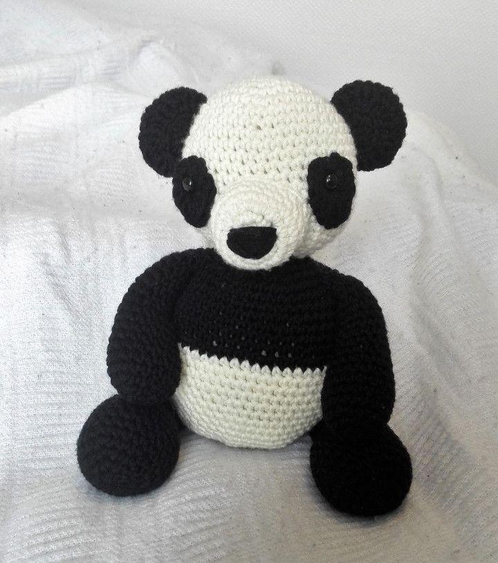 free pattern panda teddybear amigurumi crochet