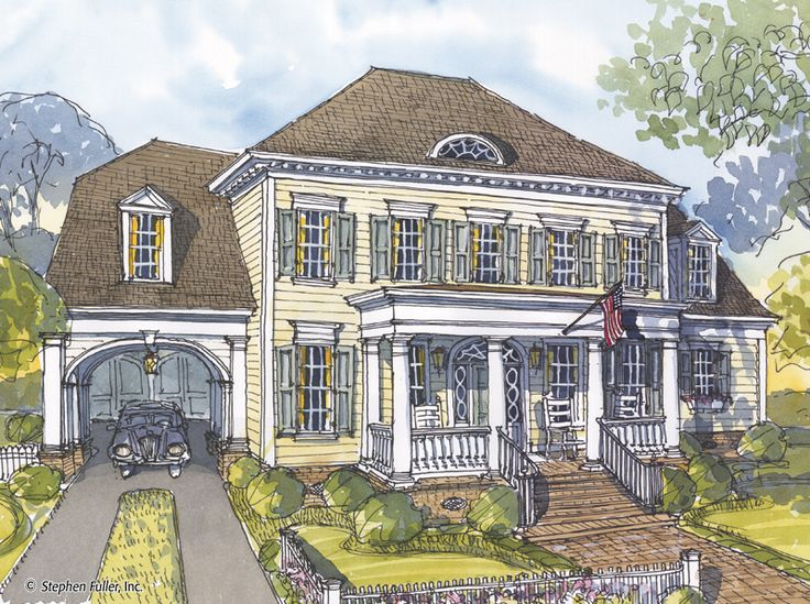 So pretty House Plan Hallys Point Stephen Fuller Inc