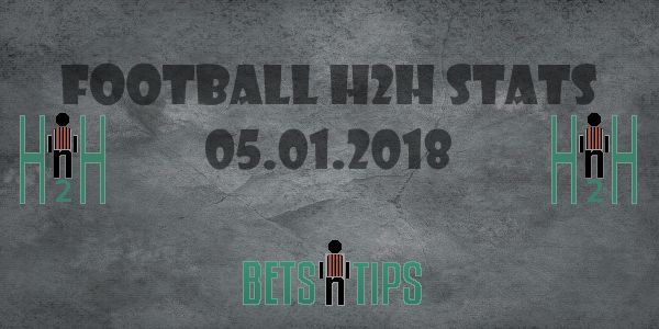 Betting Tips Football H2H Betting Tips Football Stats, H2H Stats for 05.01.2018 Betting Tips Football H2H is our section for soccer h2h stats analysis, all h2h betting stats are analyzed, only the best are selected and delivered to our visitors, here are betting tips football stats, choose wisely, not always H2H Stats make winning predictions. Our team is analyzing all Betting tips football stats for the next days, in order to bring you the Betting Tips Football predictions, also to help you…
