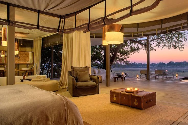 Chinzombo is a new sustainable bush camp from Norman Carr Safaris that sits on 60 riverfront acres bordering South Luangwa National Park in Zambia