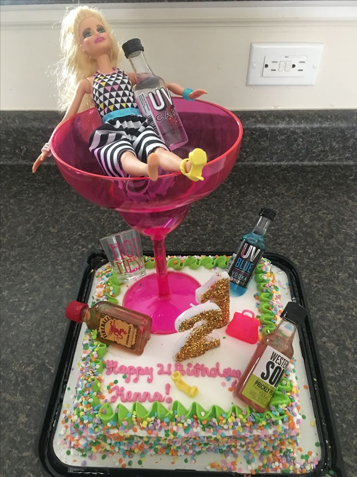 Best 25 drunk barbie cake ideas on pinterest 21st bday for 21st birthday cake decoration