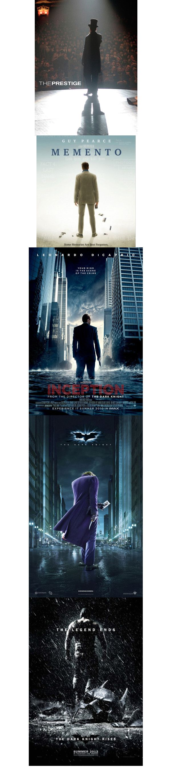 When Christopher Nolan directs, they sure know what kind of poster to make...