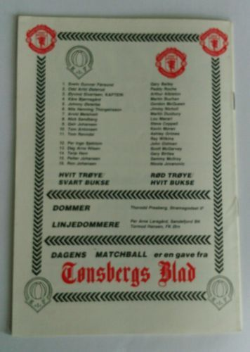 Man. Utd: Gary Bailey, John Gidman, Arthur Albiston, Mike Duxbury , Kevin Moran, Jimmy Nicholl, Scott McGarvey, Ray Wilkins, Garry Birtles, Lou Macari, Sammy McIlroy. Innbyttere: Steve Coppell, Nikola Jovanovic, Ashley Grimes
