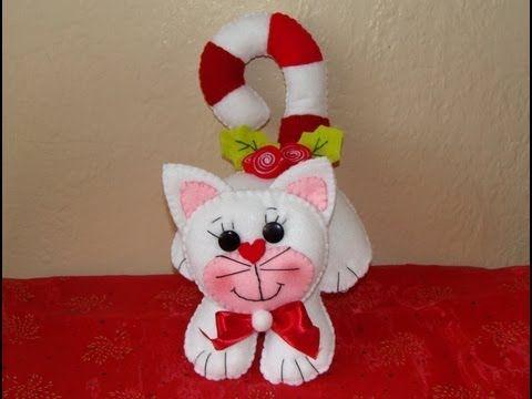 DIY - GATITO NAVIDEÑO / Christmas plush toy http://www.youtube.com/watch?v=Ht01pxGNS-4&feature=youtu.be