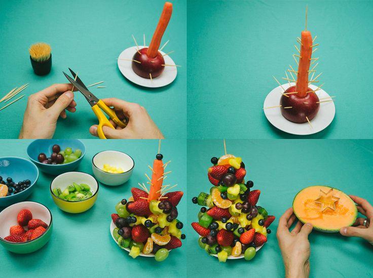 17 mejores ideas sobre Árbol de navidad de frutas en pinterest ...
