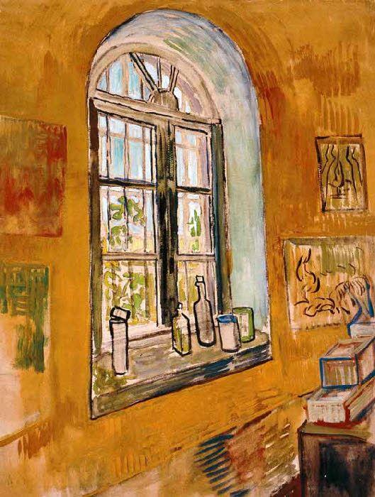 Vincent Van Gogh - Post Impressionism - Saint REMY - Fenêtre de l'atelier - 1889
