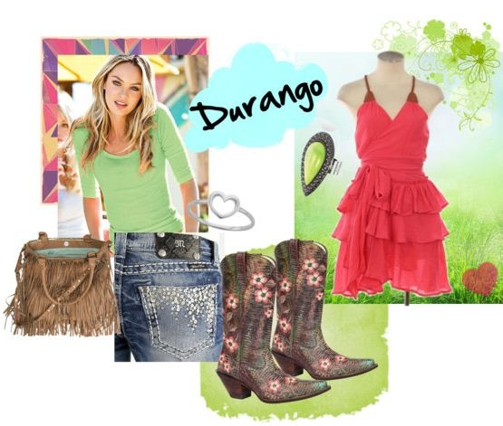 Durango Floral Embroidered Cowgirl Boots. Dress them up or dress them down!