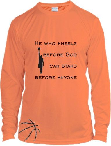 Inspirational Basketball Shirt Dry Fit by NikkisNameGifts on Etsy, $25.00