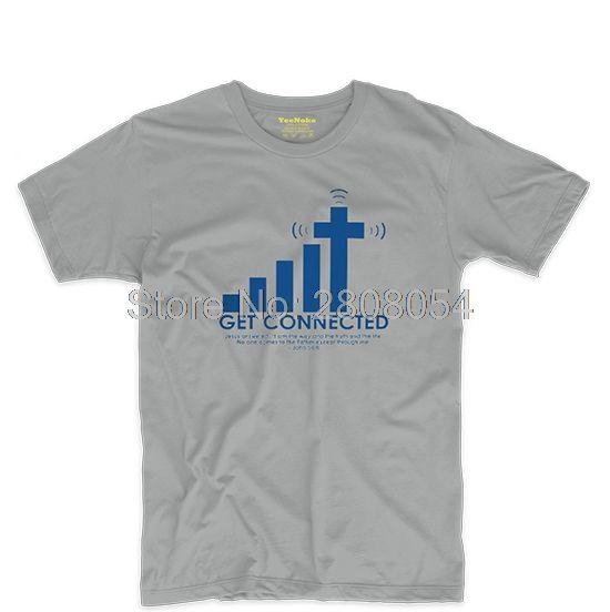 Se Connecter À Jésus Hommes et Femmes Respirant Tee T shirt Cosplay T dans T-Shirts de Femmes de Vêtements et Accessoires sur AliExpress.com   Alibaba Group