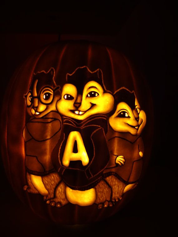 Alvin and the chipmunks hand carved foam by