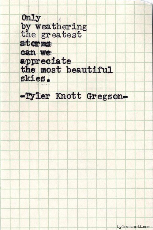 "Typewriter Series #488by Tyler Knott Gregson ""Storms"""