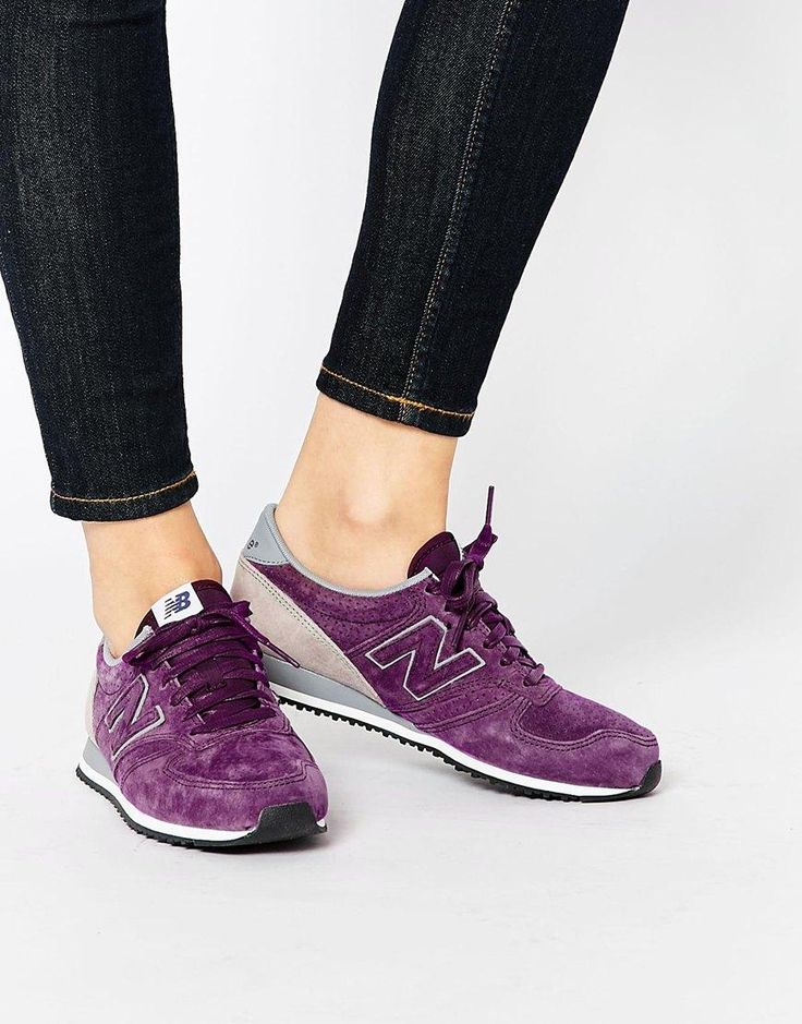 New Balance   New Balance 420 Burgundy Perforated Suede Trainers at ASOS