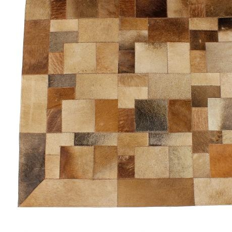 Leather Hide Patch Rug Lrg – Brown from Rustic Rugs - R6,499 (Save 50%)