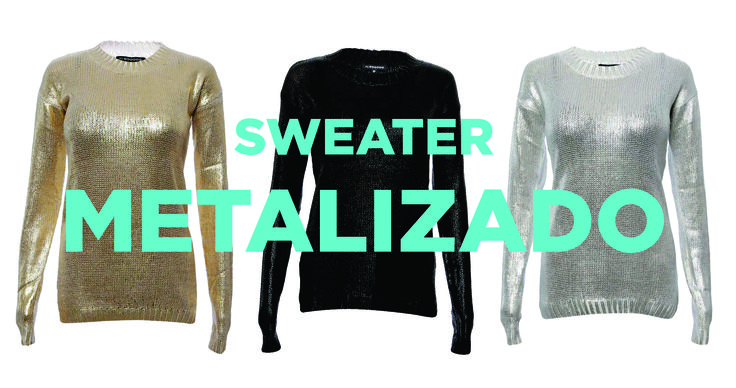 El frío polar no nos para! Este sabado salí linda y abrigada con nuestro Sweater Metalizado! http://www.mitrenda.com/mujer/cardigans-sweaters/sweater-metalizado.html