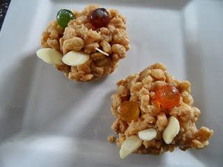 Craft with Ruth Cartwright: Peanut butter monster Krispie cakes