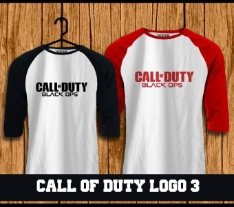 Raglan Call of Duty  t-shirt online,kaos,polo,raglan,distro,sablon,coreldraw,photoshop