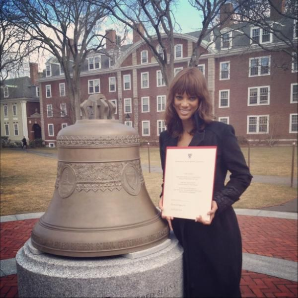 Tyra Banks completed a program at Harvard's Executive Education Program.  It's never too late to further your education and better your career.