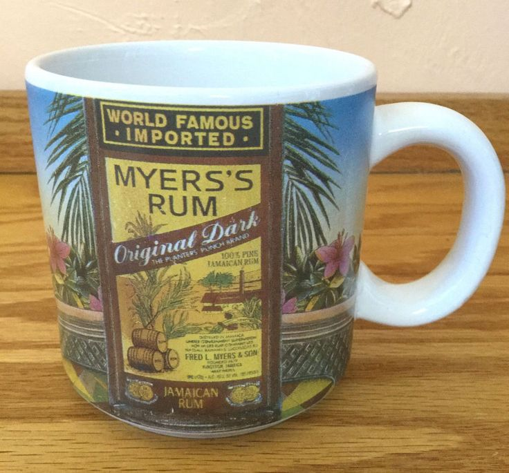Myers Rum Mug Cup Logo Collectible Original Dark Jamaican Bar Tropical #MyersRum