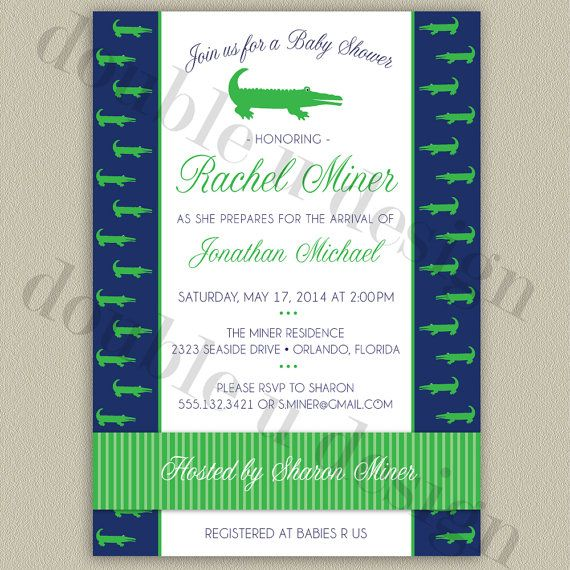 33 best alligator party images on pinterest | alligator party, Baby shower invitations
