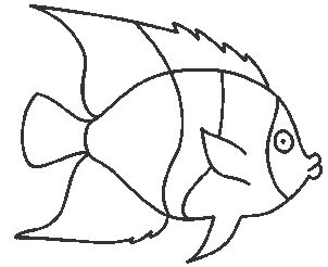 christmas glass painting designs | Fish coloring model for glass painting