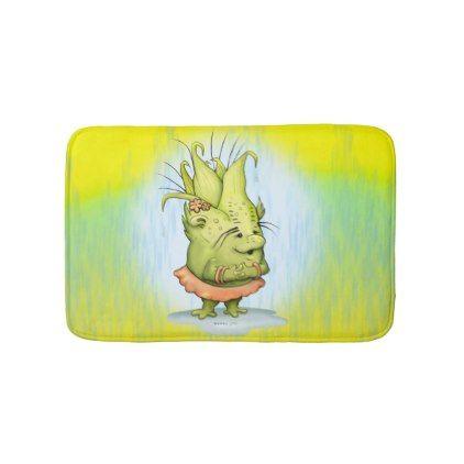 #customize - #EPIZELLE ALIEN CARTOON Small  Bath Mat