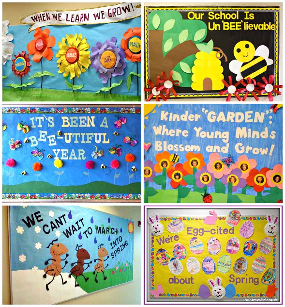 Here are a bunch of spring bulletin board ideas for the classroom!
