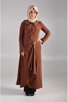 Livza Bayan Ferace Elbise Kahve http://www.giyimdemoda.com.tr/yeni-sezon-ferace-modelleri