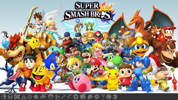 8 Personagens Simultâneos e Chat de Voz em Smash Bros Wii U