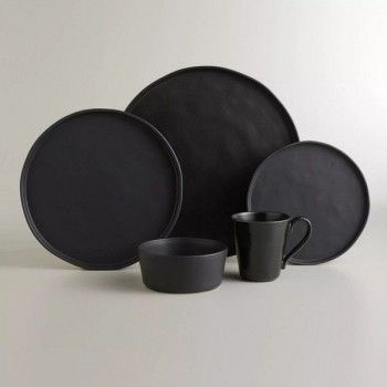 Black Ceramic plate set, makes your food pop! #lglimitlessdesign #contest
