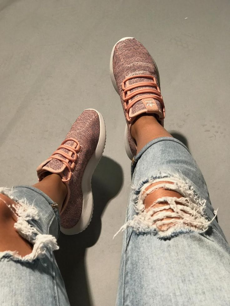 Women's Adidas Tubular Knit Shadow 'Coral'