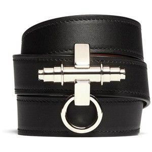 Givenchy Obsedia pulseira de couro envoltório triplo
