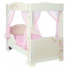 Girls Rose 4 Poster Toddler Bed