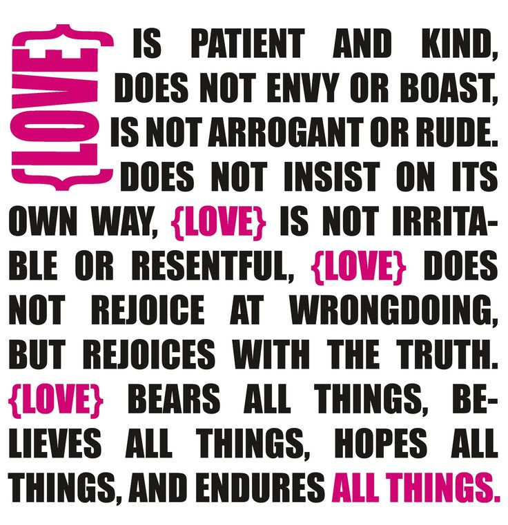 Love is Patient - #Valentine's Day Free Printable