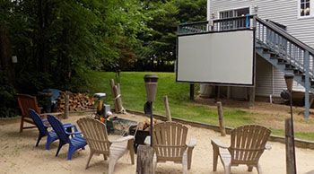 How to Build a Projector Screen at Home   Carl's Place in ...