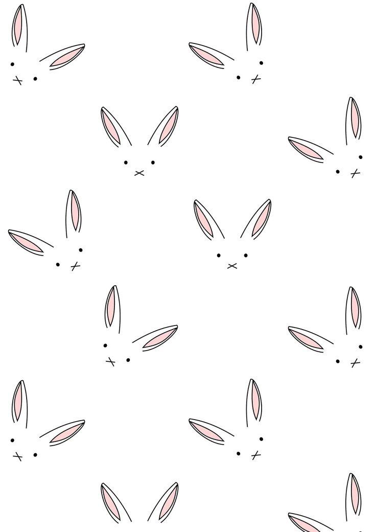 Free digital bunny scrapbooking paper minimalist - ausdruckbares Geschenkpapier - freebie | MeinLilaPark – DIY printables and downloads