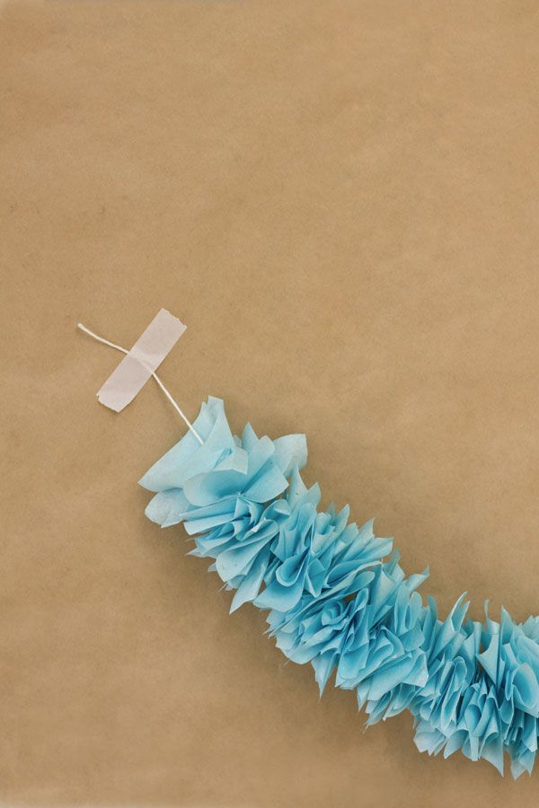 tissue garland.