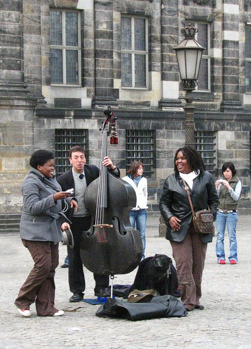 AMSTERDAM  Music At Dam Square  The square is a gathering place for young people from around the world who come for music and partying.