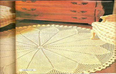 Linhas, Lãs, Barbantes e Tecidos: Tapete redondo grande, com grafico