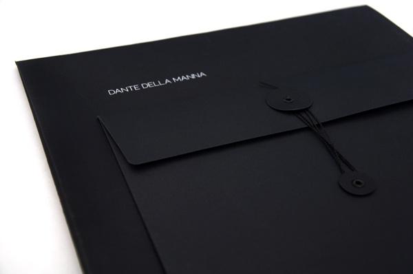 Elegant black brand identity by Natalia Kataoka for Dante Della Manna   _