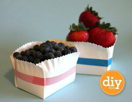 Paper plate packaging - how cute - I would have never thought of this.
