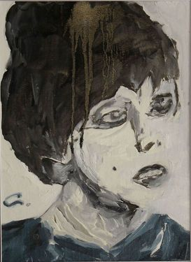 "Saatchi Online Artist Giorgi Chxeo; Painting, ""Edie Sedgwick (Girl on drugs)"