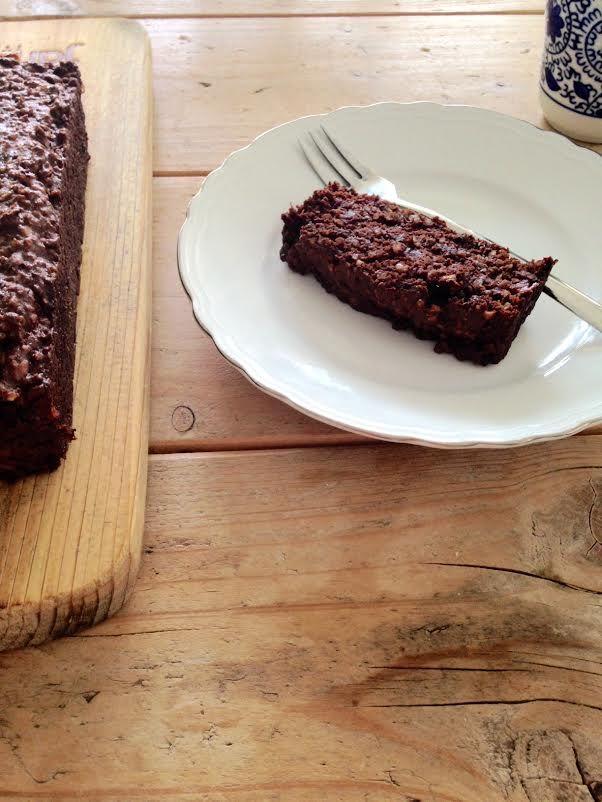 Suikervrije chocolade dadelcake